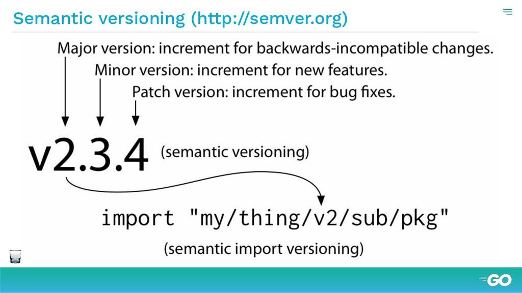 Semantic versioning (http://semver.org)