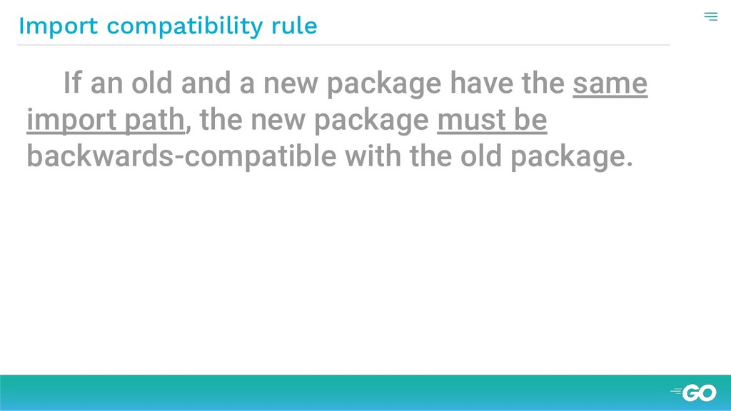 If an old and a new package have the same impor...