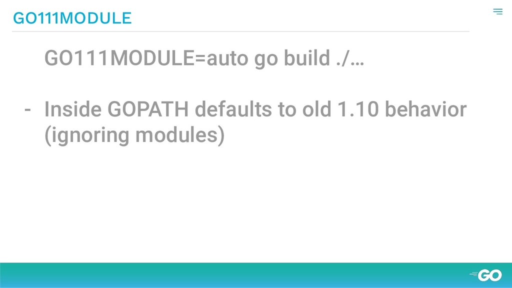 GO111MODULE=auto go build ./… - Inside GOPATH d...
