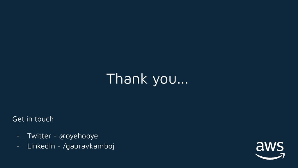 Thank you... Get in touch - Twitter - @oyehooye...