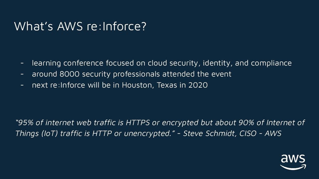 - learning conference focused on cloud security...