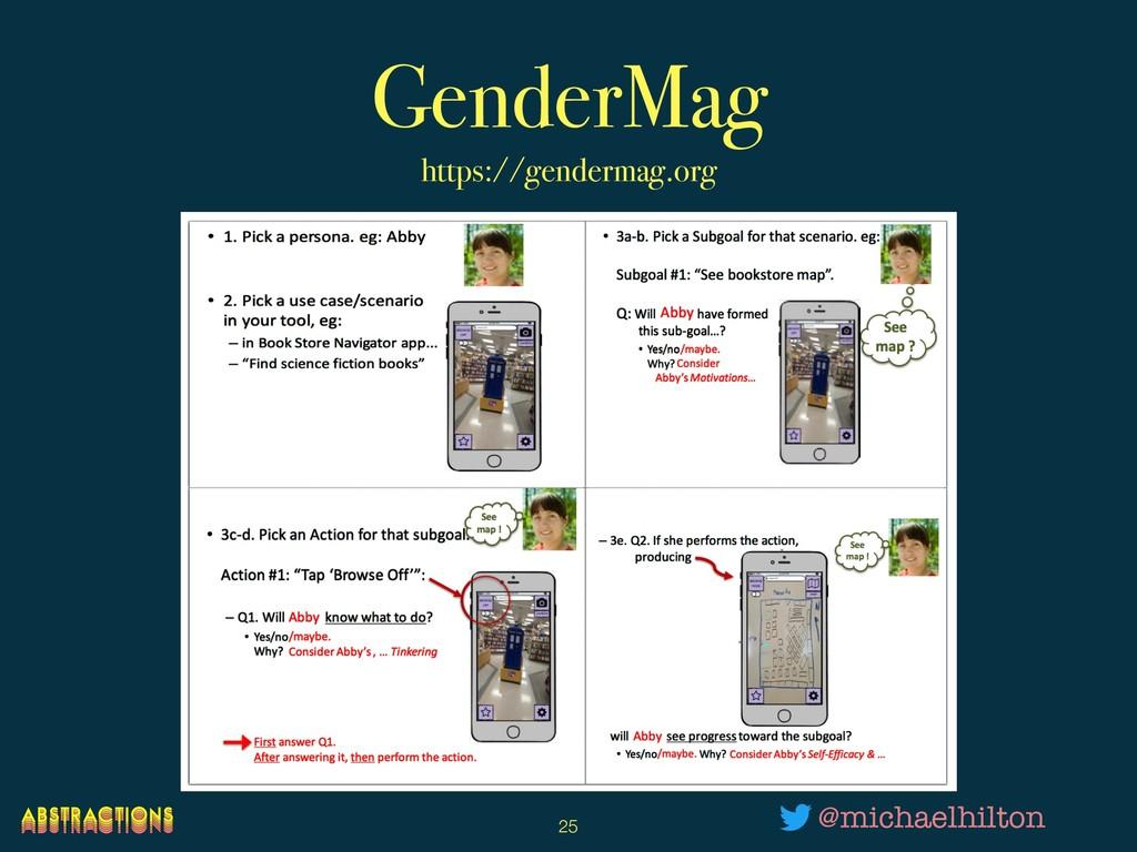 GenderMag https://gendermag.org !25 @michaelhil...