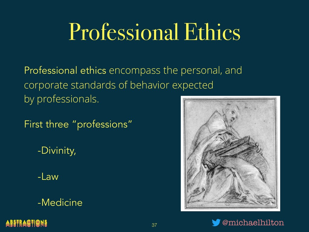 Professional Ethics Professional ethics encompa...