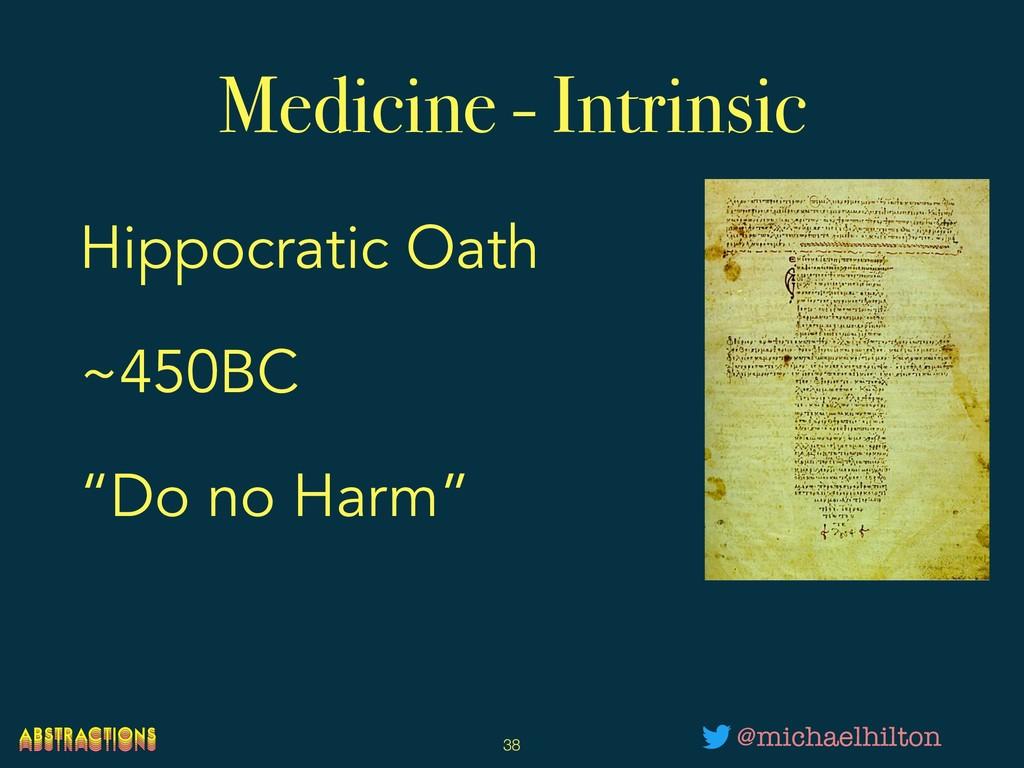 "Medicine - Intrinsic Hippocratic Oath ~450BC ""D..."