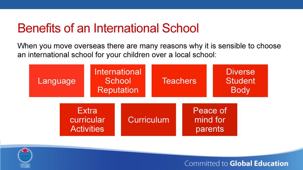 Benefits of an International School When you mo...