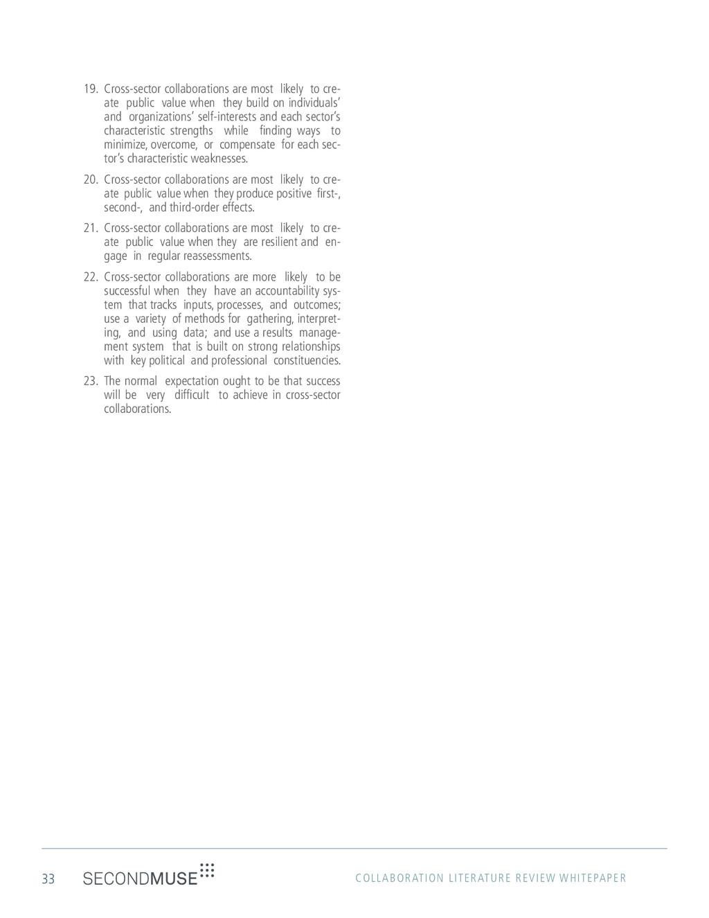 33 COLLABORATION LITERATURE REVIEW WHITEPAPER 1...