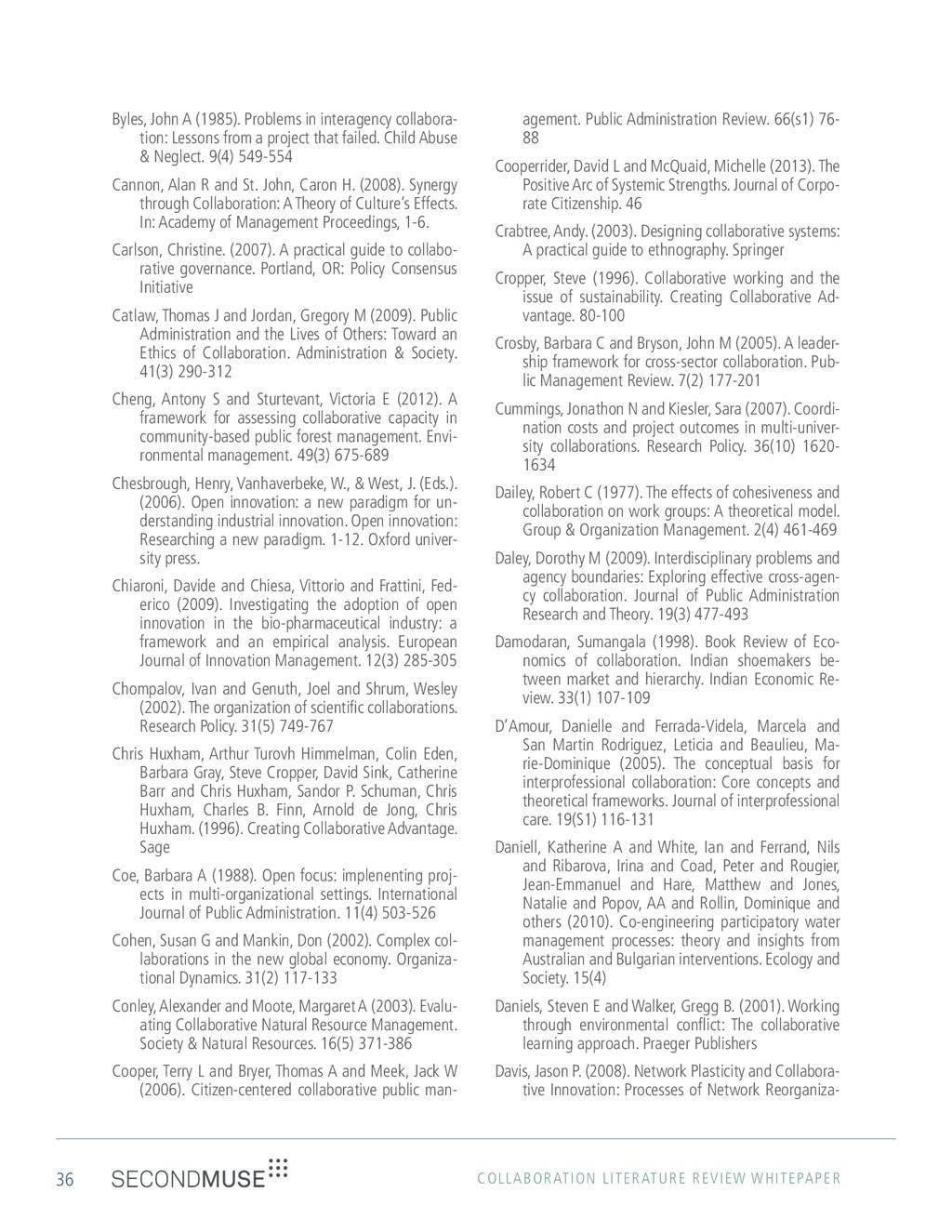 36 COLLABORATION LITERATURE REVIEW WHITEPAPER B...