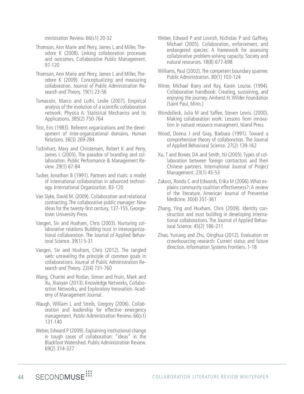 44 COLLABORATION LITERATURE REVIEW WHITEPAPER m...
