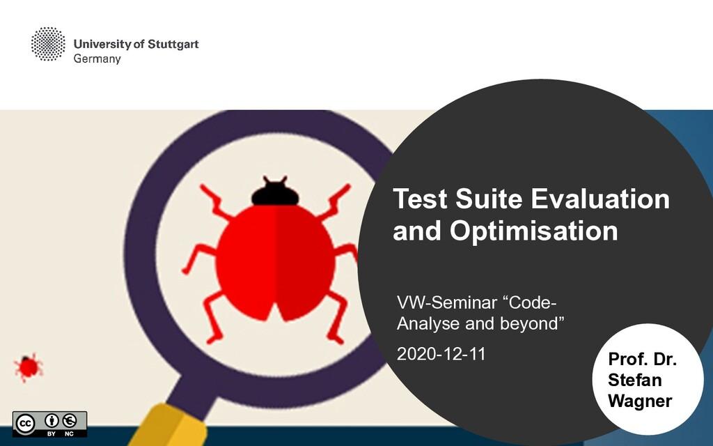"VW-Seminar ""Code- Analyse and beyond""   2020-12..."