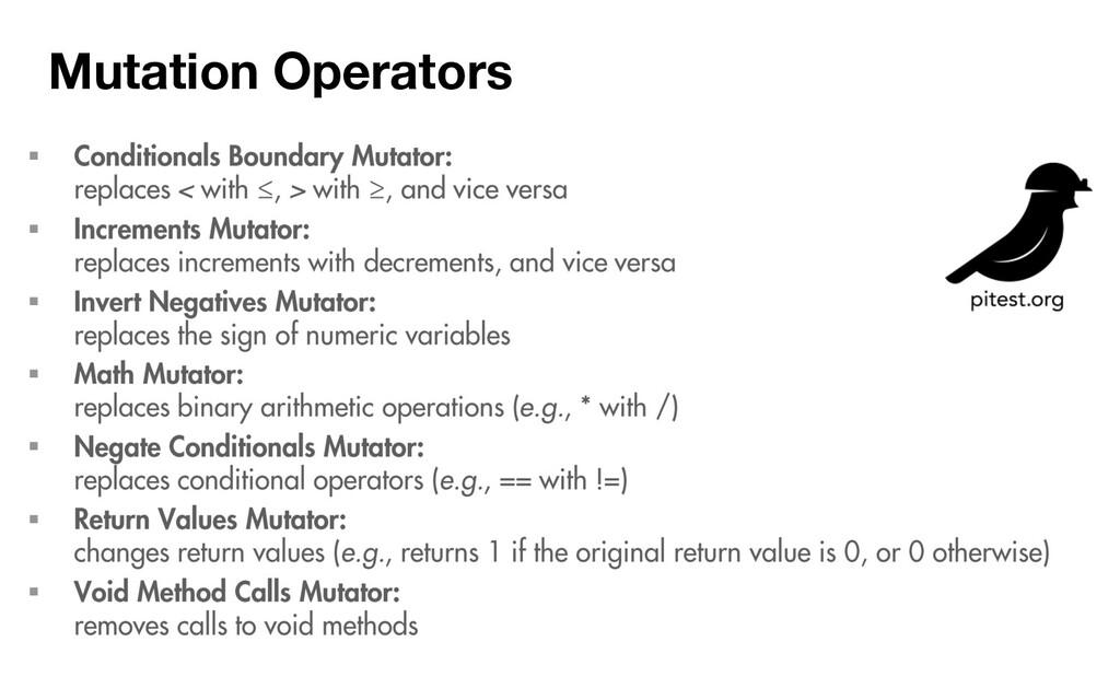 Mutation Operators ƒ ƒ ƒ ƒ ƒ ƒ ƒ