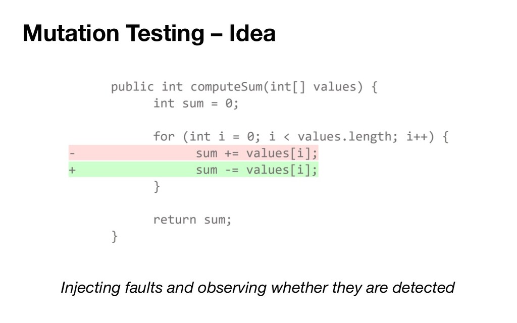 Mutation Testing – Idea Injecting faults and ob...