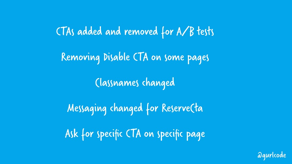 CTAs added and removed for A/B tests Removing D...