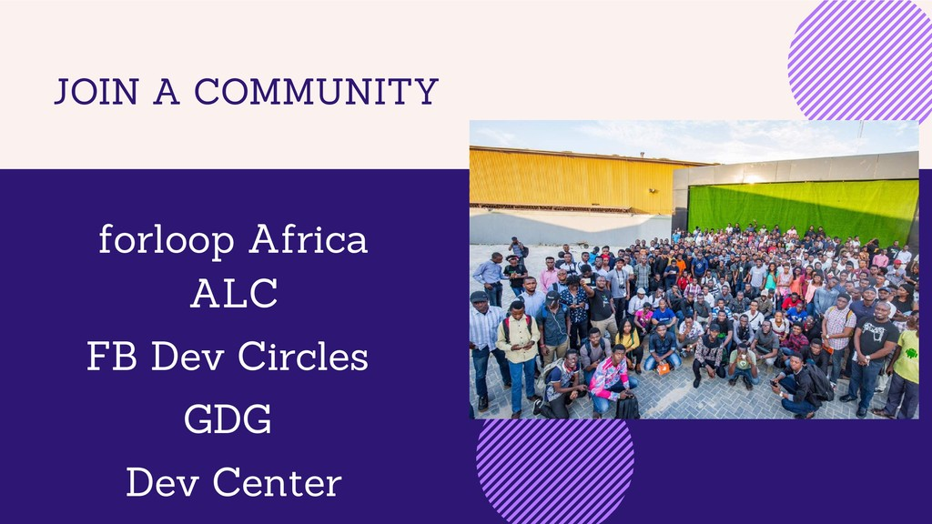 JOIN A COMMUNITY forloop Africa ALC FB Dev Circ...