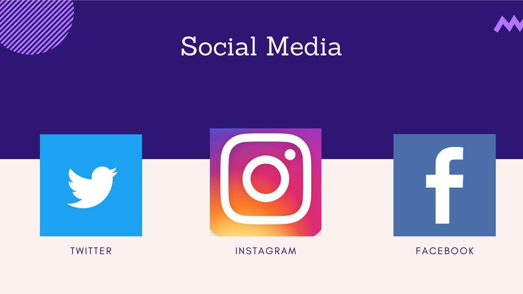 Social Media T W I T T E R I N S T A G R A M F ...