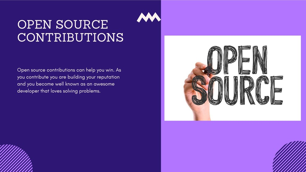 OPEN SOURCE CONTRIBUTIONS Open source contribut...