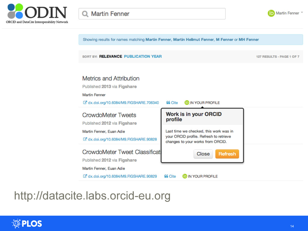 14 http://datacite.labs.orcid-eu.org