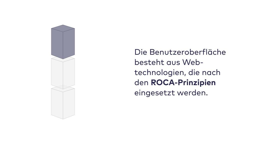 Die Benutzeroberfläche besteht aus Web- technol...