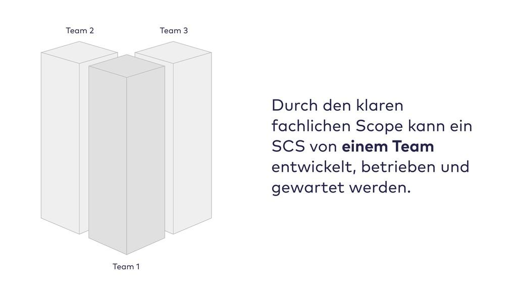 Durch den klaren fachlichen Scope kann ein SCS ...