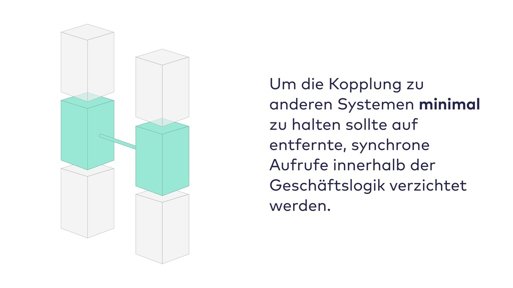 Um die Kopplung zu anderen Systemen minimal zu ...