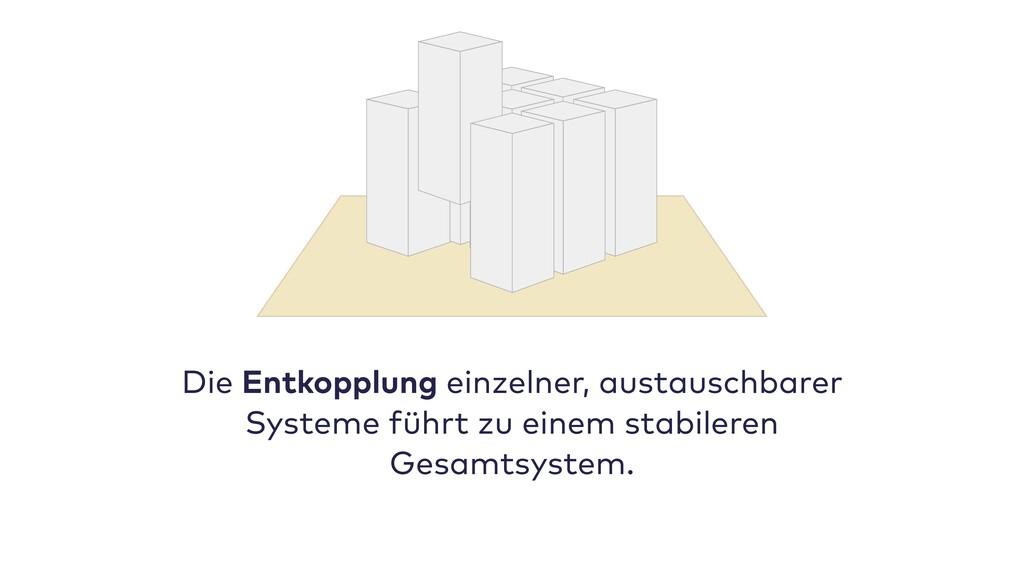 Die Entkopplung einzelner, austauschbarer Syste...