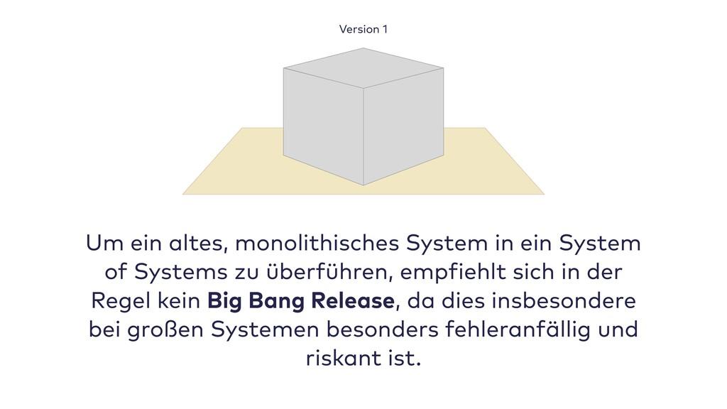 Um ein altes, monolithisches System in ein Syst...