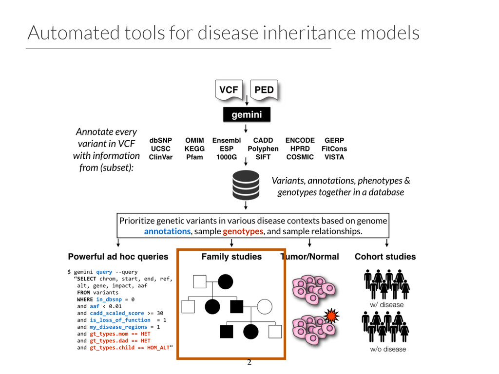 Automated tools for disease inheritance models 2