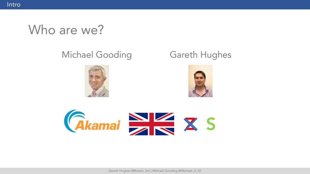 Gareth Hughes @Brassic_lint | Michael Gooding @...