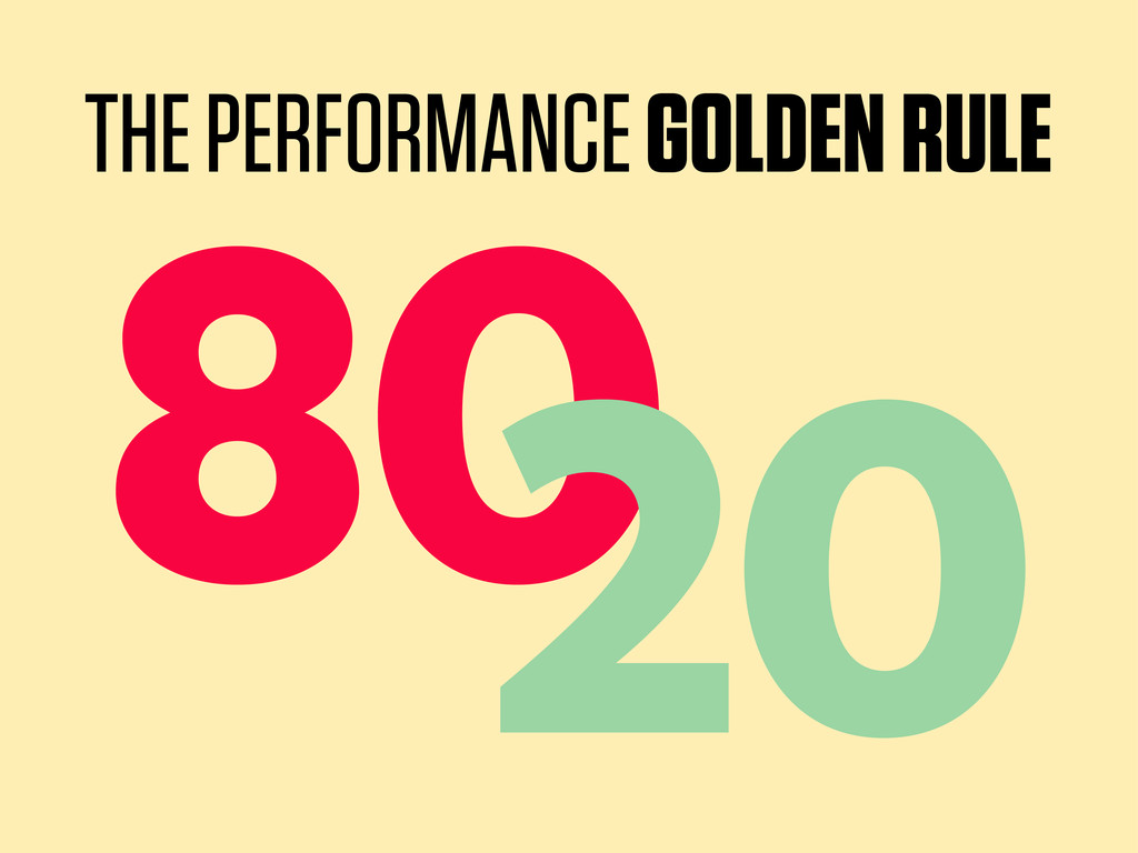 80 20 THE PERFORMANCE GOLDEN RULE
