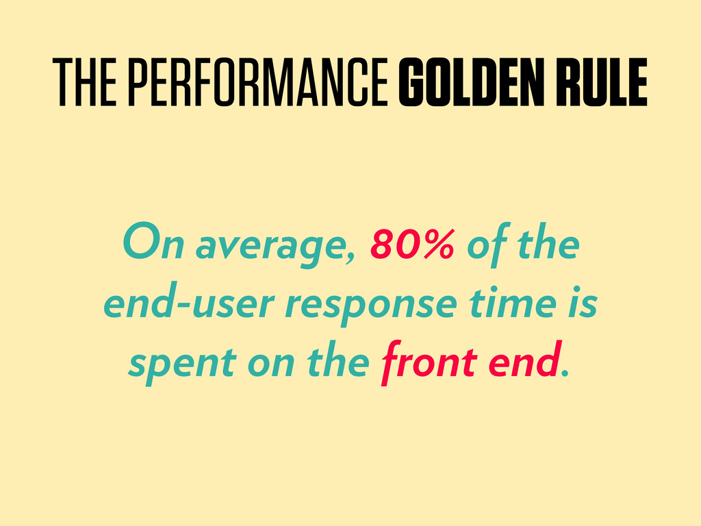 On average, 80% of the end-user response time i...
