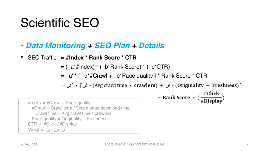 • Data Monitoring + SEO Plan + Details! • SEO...