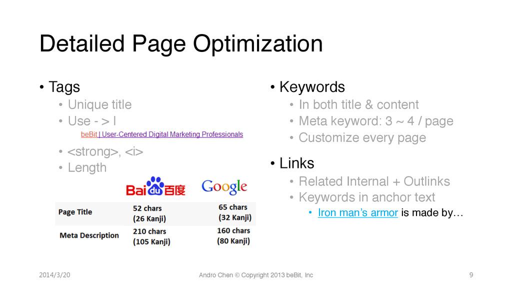 """Detailed Page Optimization • Tags"""" • Unique..."""