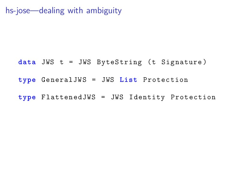 hs-jose—dealing with ambiguity data JWS t = JWS...