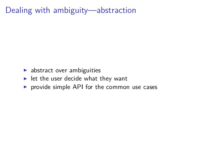 Dealing with ambiguity—abstraction abstract ove...
