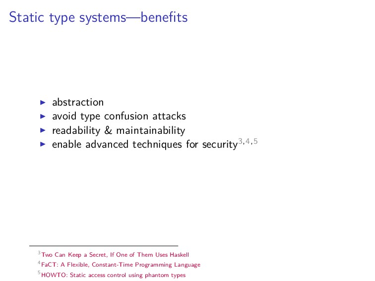 Static type systems—benefits abstraction avoid t...
