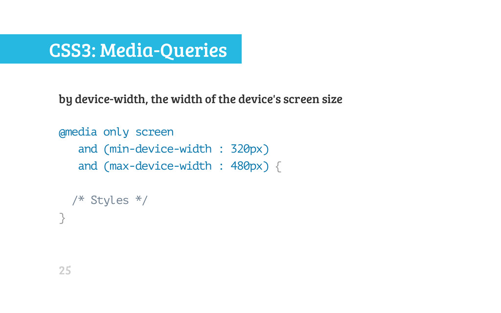 CSS3: Media-Queries by device-width, the width ...