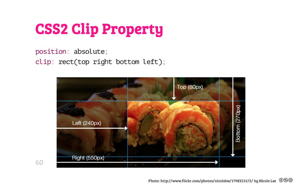CSS2 Clip Property p o s i t i o n : a b s o l ...