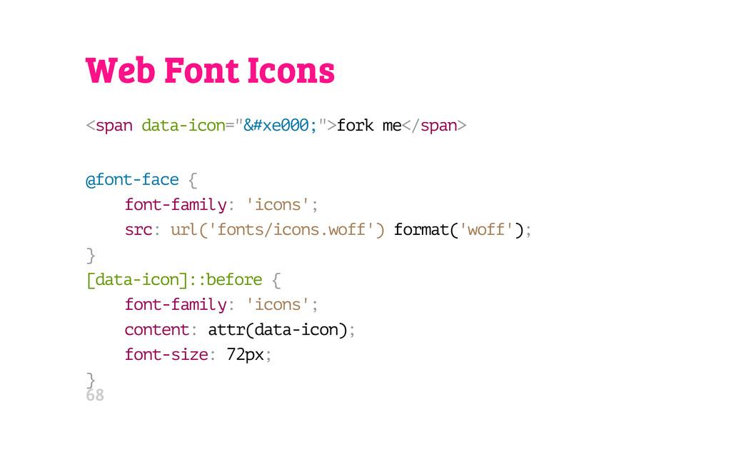 "Web Font Icons < s p a n d a t a - i c o n = "" ..."