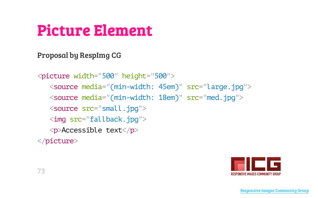 Picture Element Proposal by RespImg CG < p i c ...