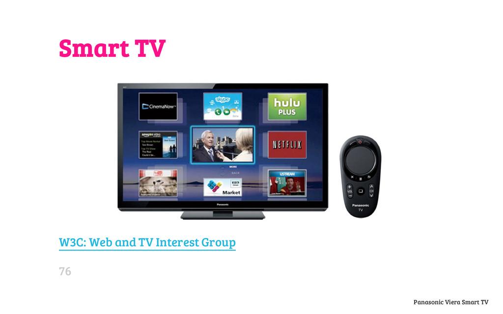 Smart TV W3C: Web and TV Interest Group Panason...