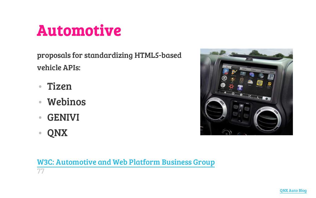Automotive proposals for standardizing HTML5-ba...