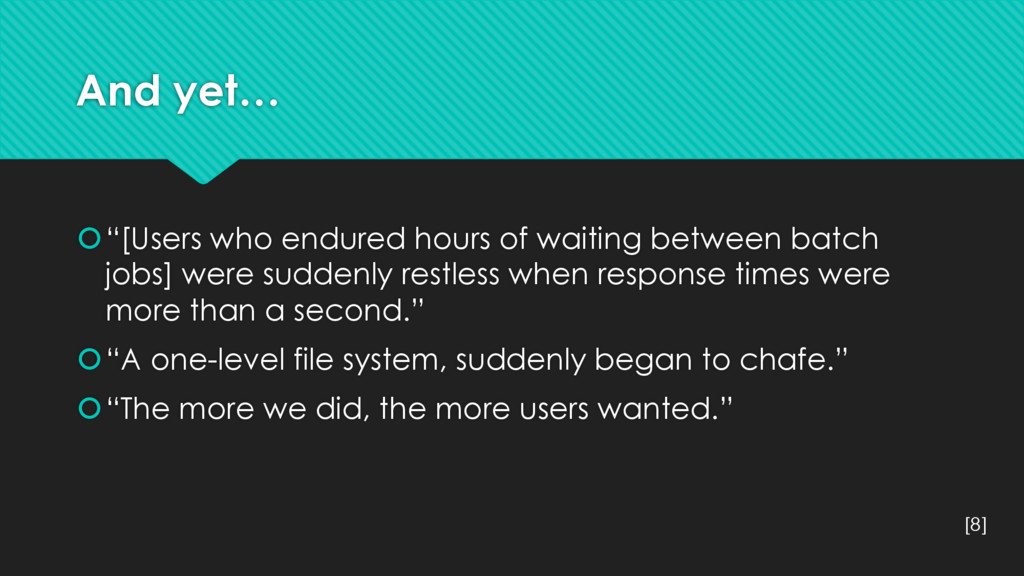 "And yet… š""[Users who endured hours of waiting ..."