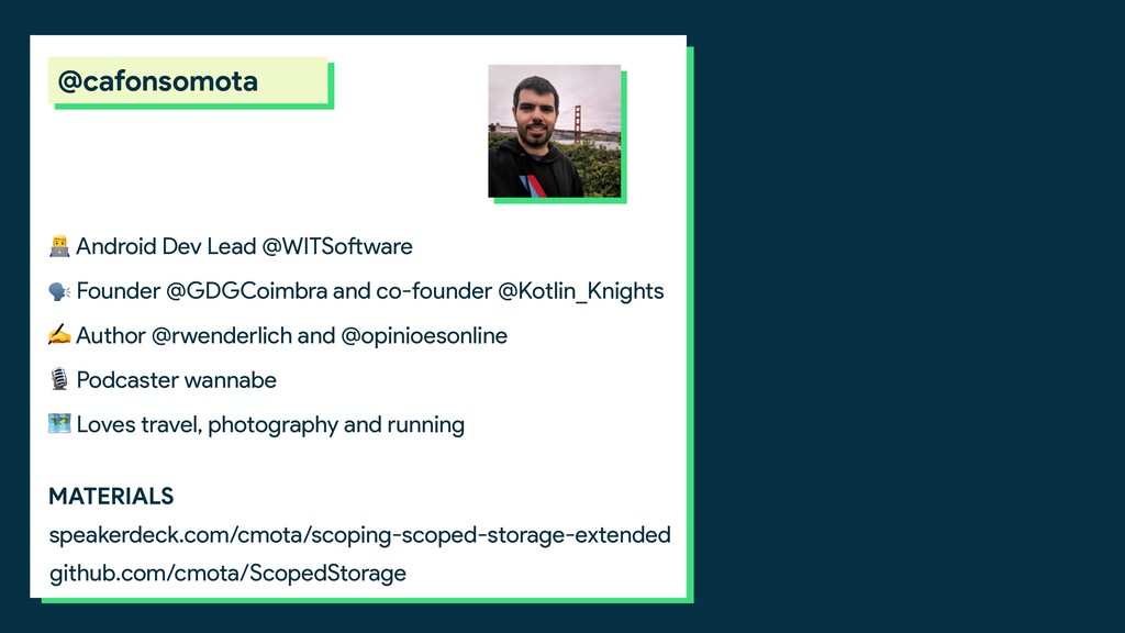 Android Dev Lead @WITSoftware  Founder @GDGCoi...