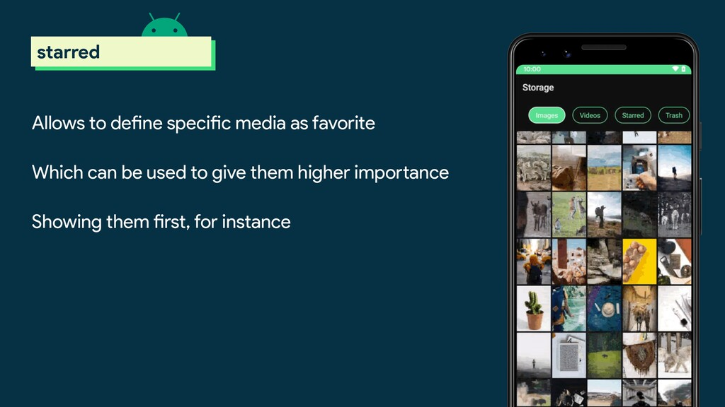 Allows to define specific media as favorite Whi...