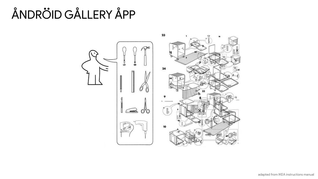 ANDROID GALLERY APP adapted from IKEA instructi...