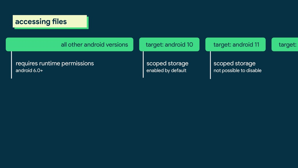 requires runtime permissions target: android 10...