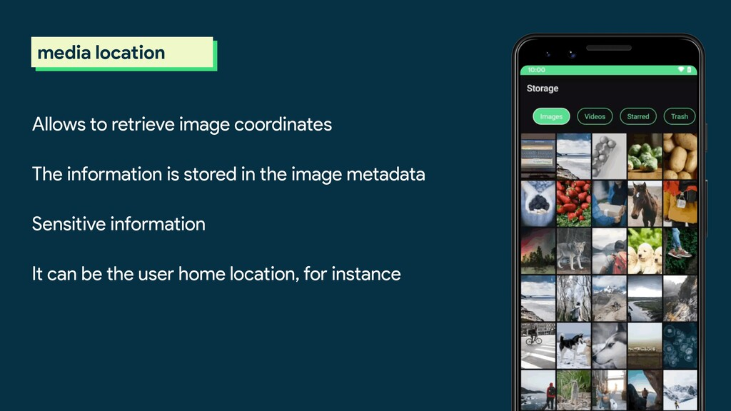 scoped storage media location Allows to retriev...