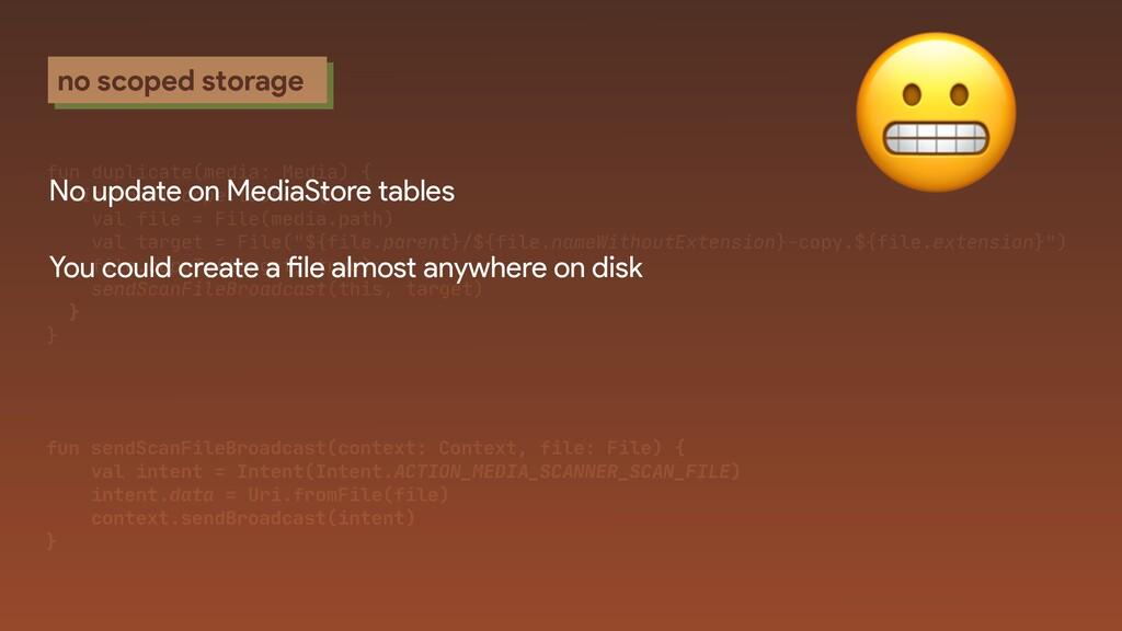 no scoped storage fun duplicate(media: Media) {...