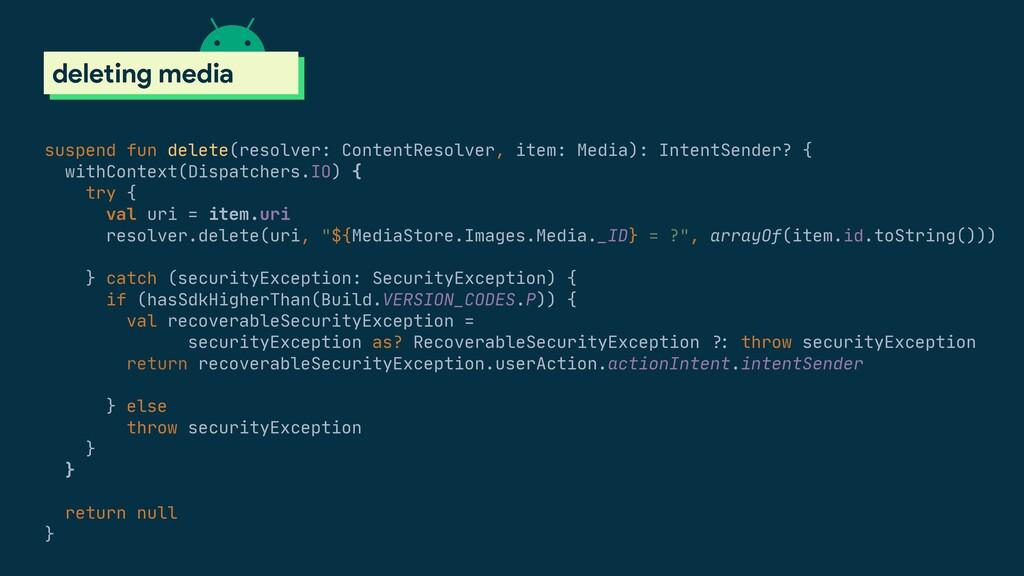 suspend fun delete(resolver: ContentResolver, i...