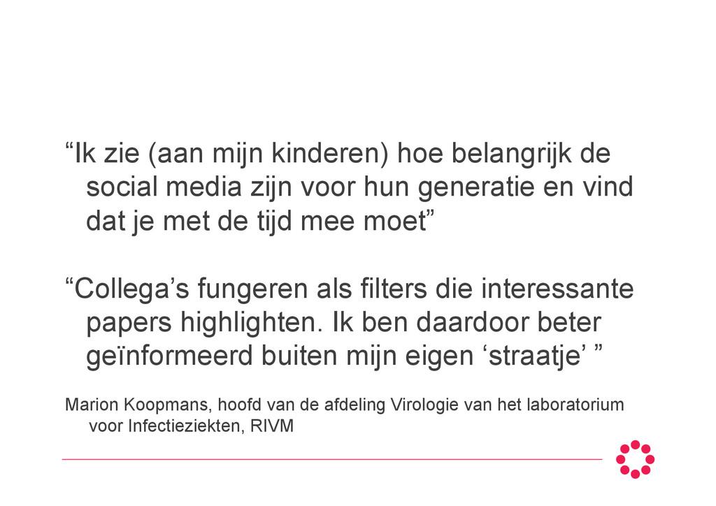 Marion Koopmans, hoofd van de afdeling Virologi...