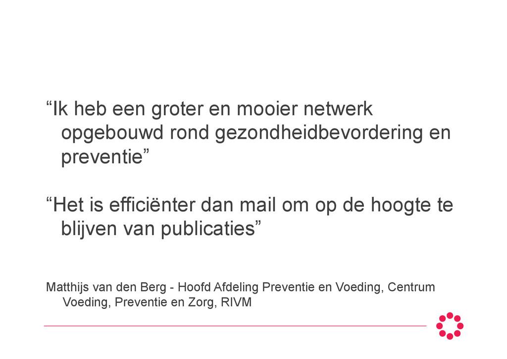 Matthijs van den Berg - Hoofd Afdeling Preventi...